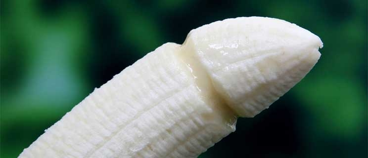 Banane in Penisform
