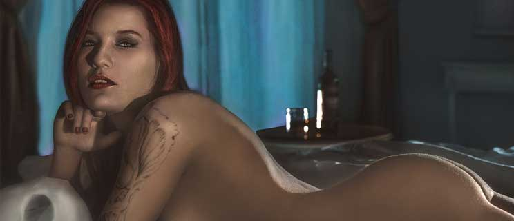 Erotische Frau