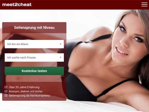 Meet2cheat Webseite