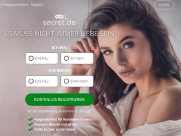 Secret Webseite